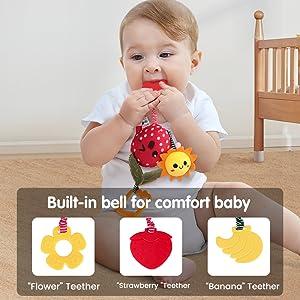 Juguetes suaves de sonajeros y mordedores para bebés