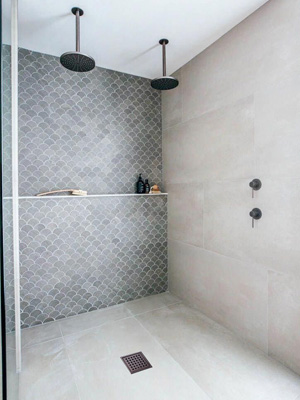 shower drain bronze