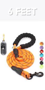 6 feet dog leash