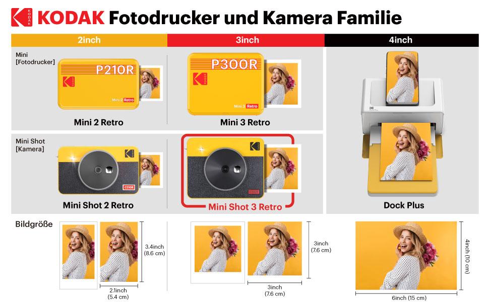 Kodak Mini Shot 3 Retro Tragbare Kabellose Kamera