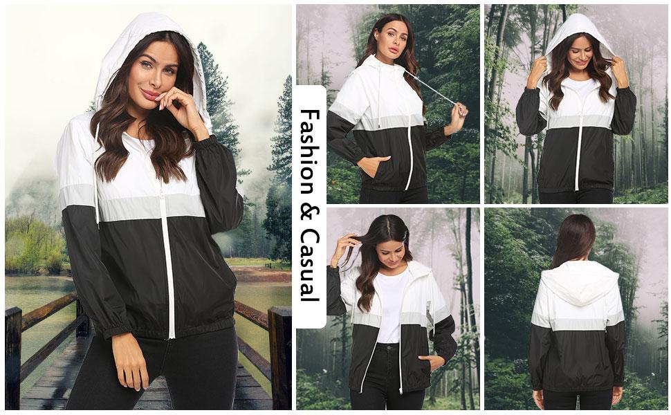 windbreaker women rain jacket lady raincoat lightweight running jackets Waterproof raincoat