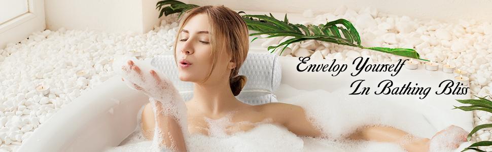 bathtub pillow for neck and shoulder