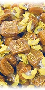 avenue sweets vegan caramel without dairy free candy organic individually wrapped  plant based