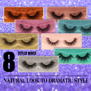 8 styles lashes pack