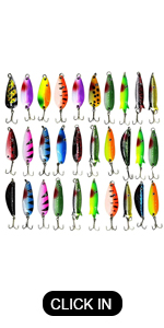 Metal Fishing Spoon Lures Kit
