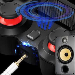 Built-in speaker and stereo headset jack