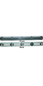 Rackmount 24 Port Cat5e Patch Panel Horizontal 110 Type, 568A amp; 568B Compatible 1U