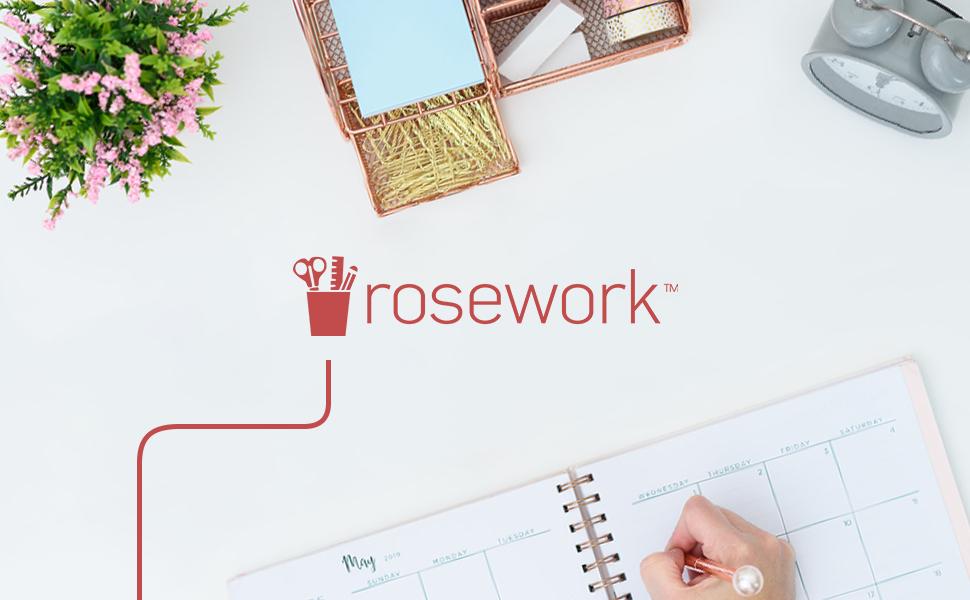Rosa trabajo rosa blu Mónaco lápices de escritorio divertido malla oro rosa organizador de escritorio y archivos de accesorios