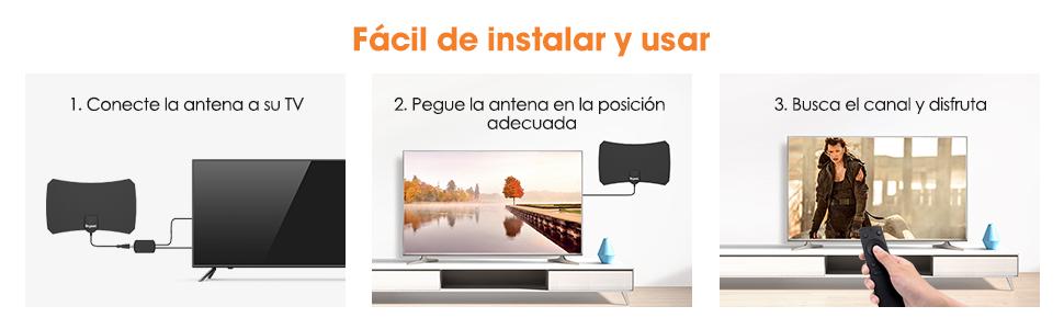 Nueva versión 2020] Antena TV Interior- Bqeel Antena TV portátil HDTV Digital con Amplificador de señal Inteligente para Canales de TV 1080P 4K gratuitos para DTMB, ATSC,DVB-T, DMB-T,ISDB -T: Amazon.es: Electrónica