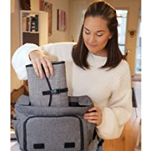 Compact portable changing pad fits in diaper bag
