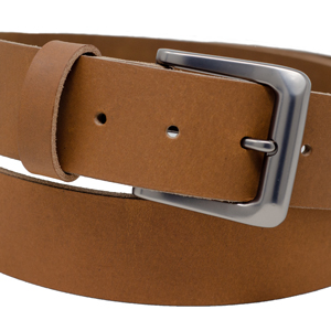 brushed chrome buckle