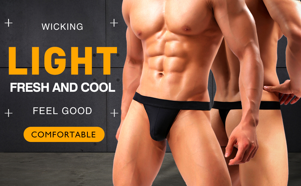 man thong underwear g string sexy low rise backless breathable comfort mesh eyelet elastic waisband