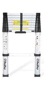 8.5 ft telescopic ladder telescoping ladder extension foldable folding extendable ladder Aluminum