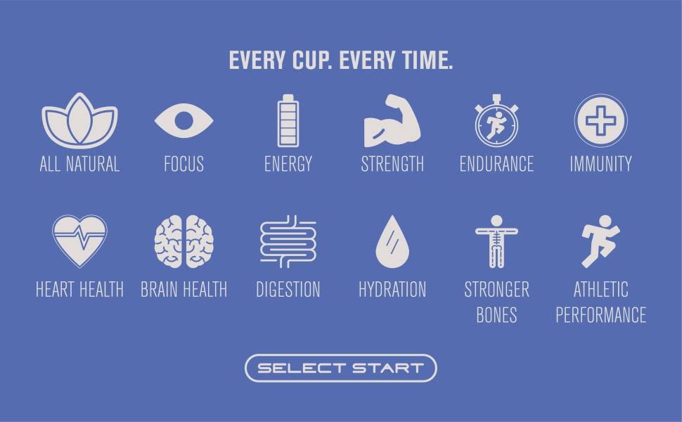 Select Start Pre Workout Immunity All Natural Endurance Hydration Performance Strength Brain Health