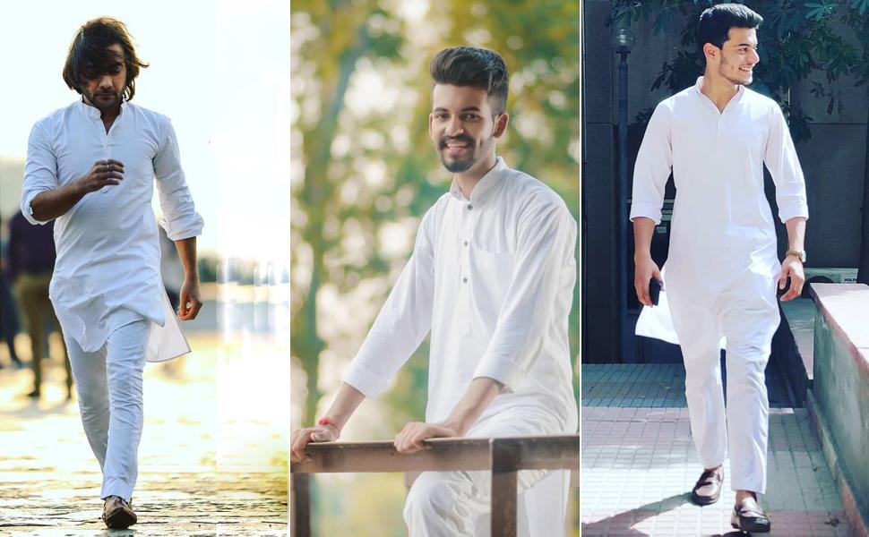 white kurta pajama for men