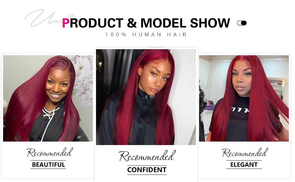 Straight Red Color Brazilian Virgin Hair Silk Base Fake Scalp Pre Plucked 99J Wig for Black Women