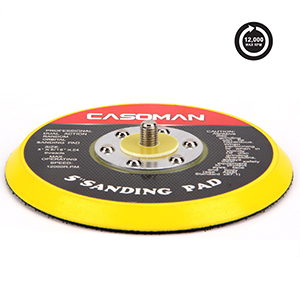 """Universal standard backing pad size 5"""" x 5/16"""" with 24 threads is durable and fits most air sanders"""