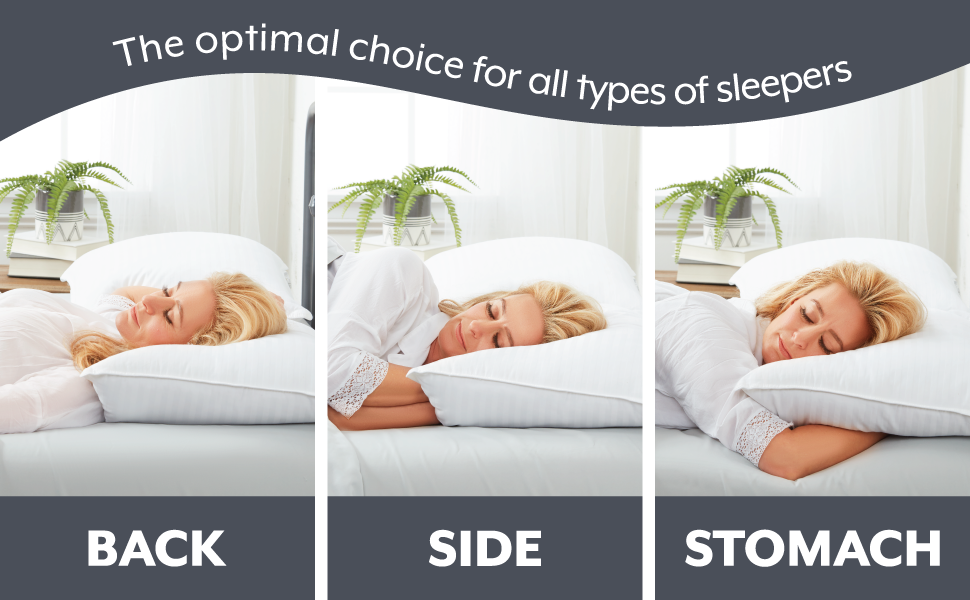 the optimal choice of all type of sleepers: back, side, stomach
