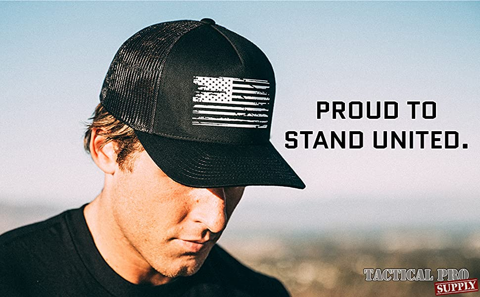 Tactical Pro Supply - Patriotic American Flag Hat for Men amp; Women - Made in USA - Proudly American