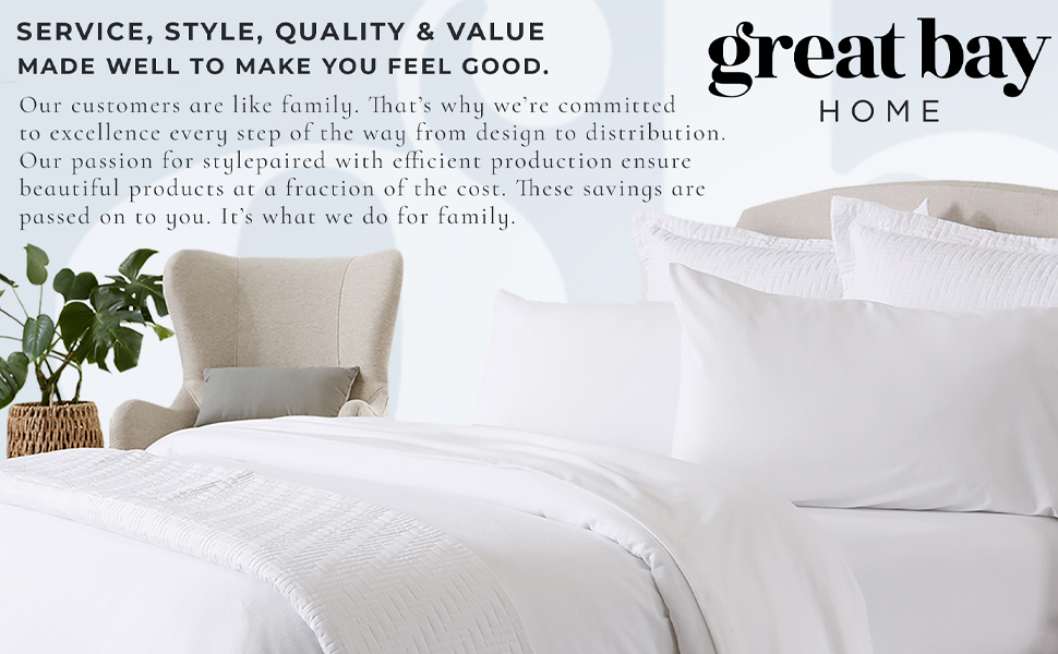 Great Bay Home Bedding Sheets Duvets Quilts