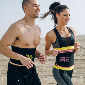 sweet sweat waist trimmer is for guys and girls
