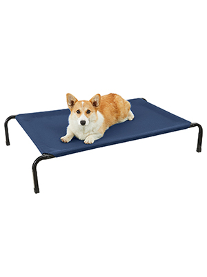 Cooling Elevated Dog Bed curved poles cat bed raised pet cot chew proof dog bed