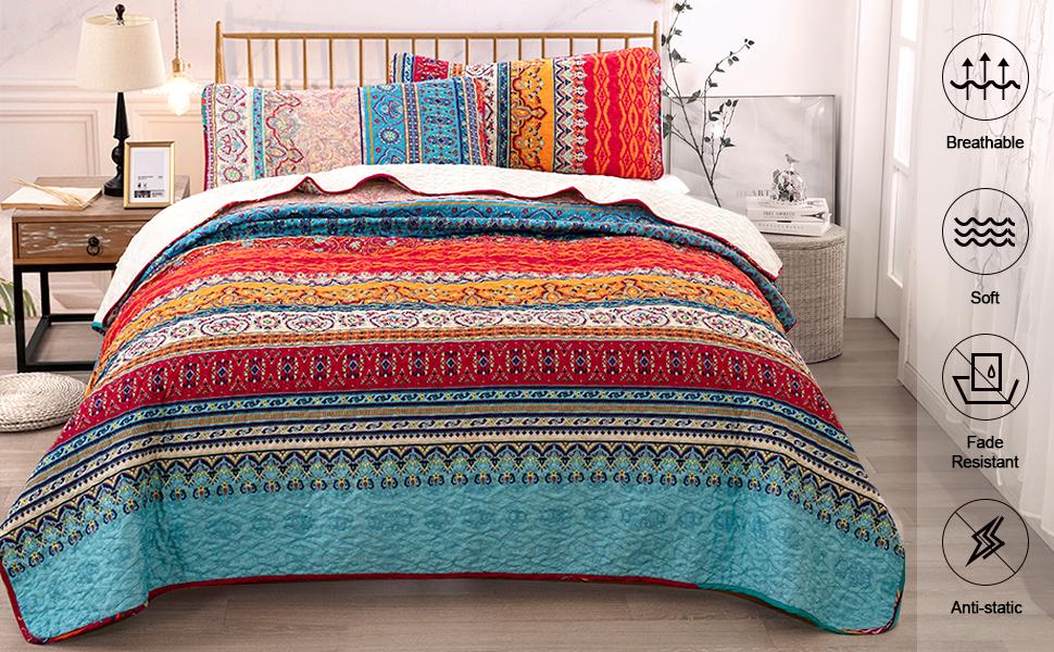 bohemian quilt set