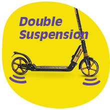 Double suspension scooter for kids