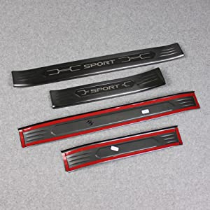 Fit for Toyota New RAV4 2019 Outside Door Sill Scuff Plate Guard Cover Trim
