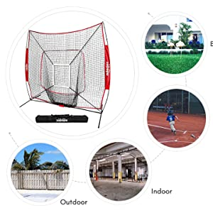 zupapa portable baseball net