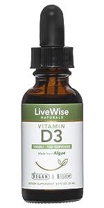 Vegan d3 liquid drops