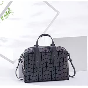 cross-bossy bag hand tote luminous purse with luminous leather shoulder strap
