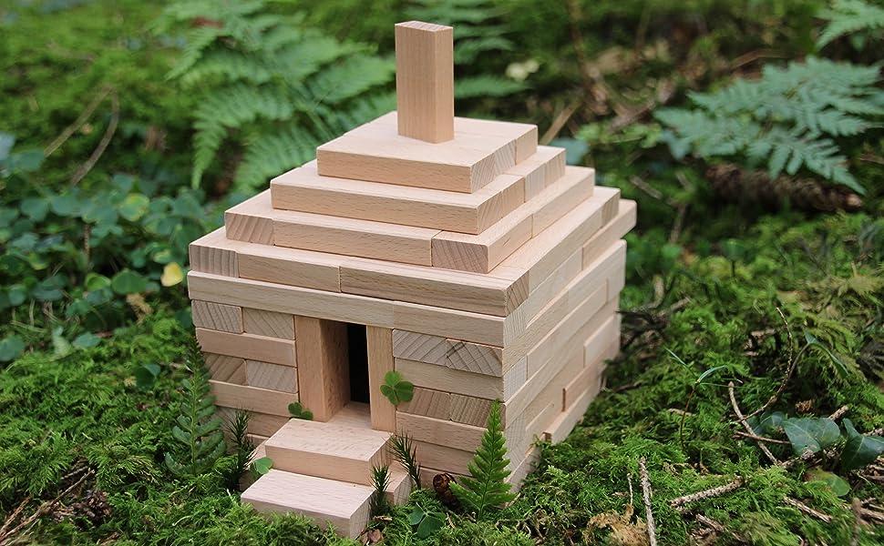 Bauklötze holz natur Holzbausteine Bausteine Holzklötze naturbelassen Holzbauklötze bauklotz