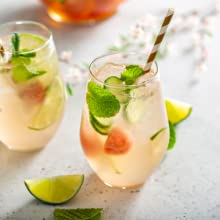 watermelon, lime, mint, drink, beverage, ice, cold drinks, seltzer, homemade, mocktail