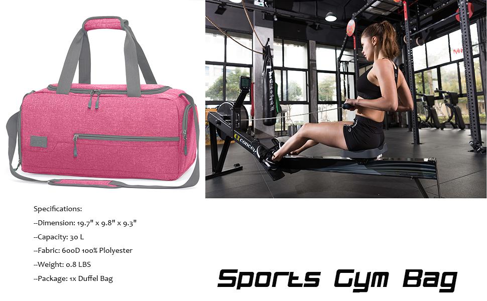 marsbro gym bag pink