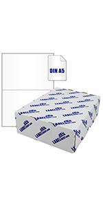 300 Mediarange Etiketten Label selbstklebend 105 x 99 mm auf 50 A4 Bogen