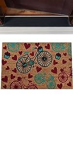 vintage bicycle coir mat