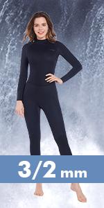 Women 5/4mm Full Wetsuit