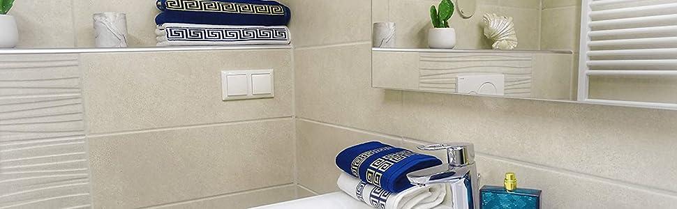 HOMEALOO Handtücher und Badetücher im Bad - Inspiration