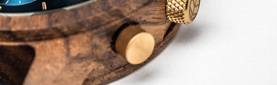 TENSE Holzuhren Armbanduhren für Herren
