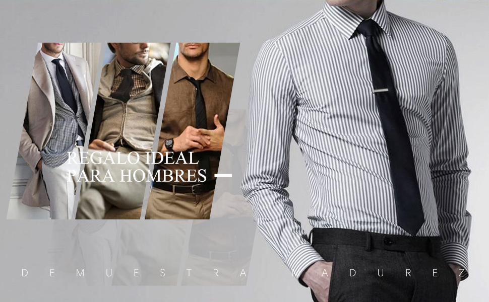 Corbata para Hombre, Panuelo de Corbata Solido Clasico Conjunto de Corbata y Bolsillo para Boda Negocio