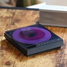 ポータブル Bluetooth ワイアレス CD CD-R コンパクト 軽量 黒 レコード