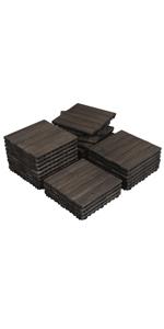Yaheetech Wood Deck Tiles