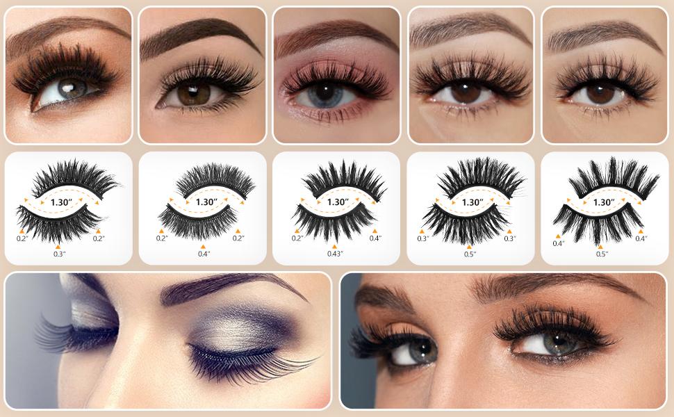 magnetic eyelashes kit natural lashes eyelashes bulk lashes mink