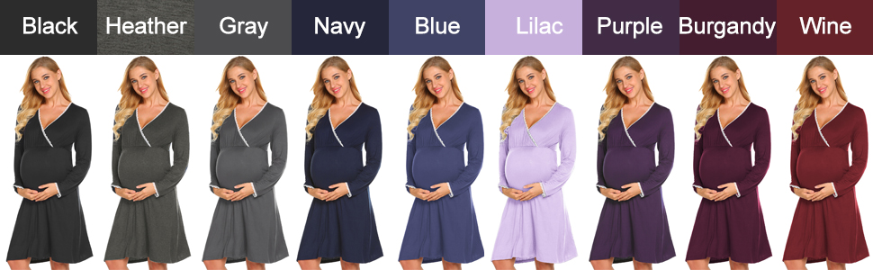 maternity nightgown long sleeve sleepwear
