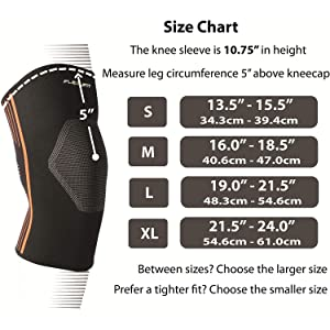 Measurement guide for NeoAlly High Compression Knee Sleeves