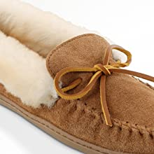 houseslippers indoor ladies lightweight lined moc mocc moccasin outdoor real sheepskin shoe