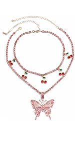 Butterfly Cherry Necklace