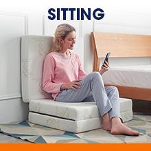 sitting tri-fold mattress