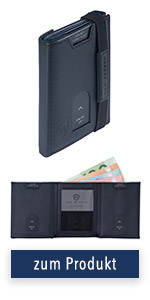 VON HEESEN Whizz Wallet mit Münzfach, Mini Wallet mit Münzfach, Slim Wallet mit Münzfach